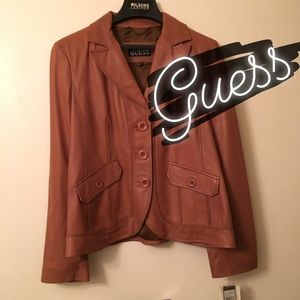 NWT Leather Coat by Guess